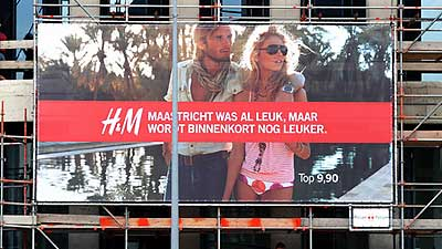 How did the residents of Maastricht feel about the arrival of H&M in their fair city?