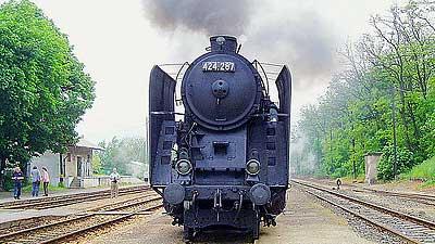 Steam engine tourist train