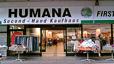 second hand clothes at humana eurocheapo. Black Bedroom Furniture Sets. Home Design Ideas