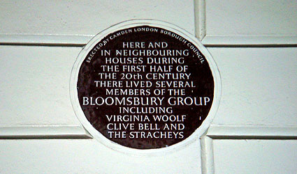 Plaque in Gordon Square in Bloomsbury