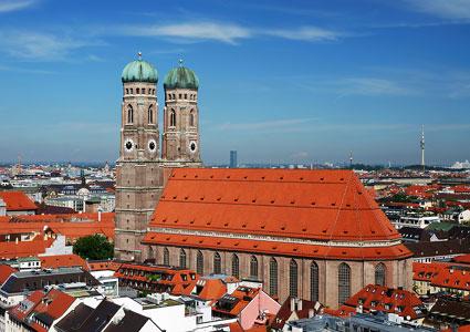 The Frauenkirche in Munich, Germany