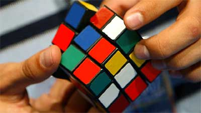 The 2007 Rubik's Cube World Championship winner solved the puzzle in 12 seconds.