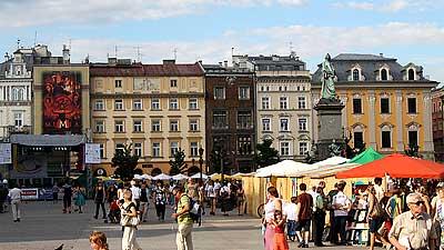 Krakow's Market Square. Photo by Lars K. Jensen