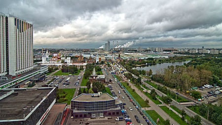 Moscow from a hotel room. Photo by sevenbrane.
