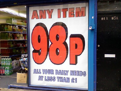 If only everything in London could be so cheap! Photo by drinksmachine