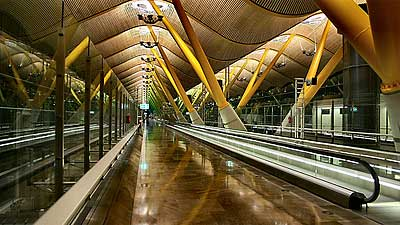 A gorgeous terminal in Madrid's airport. Photo by lowfatbrains.