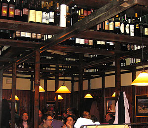 Lots of wine at the Enoteca Cavour.
