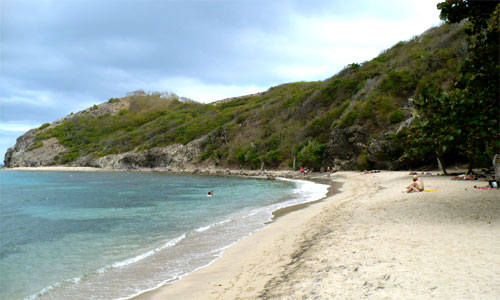 The beach in Terre-de-Haut.