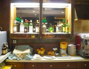 Andorra's pleasing, dated bar decor.