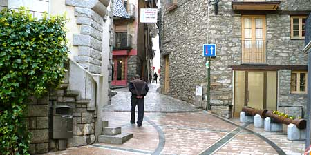 The winding streets of Andorra La Vella's Old Town. Photos by Alex Robertson Textor.