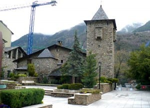 Andorra's cute parliament building.