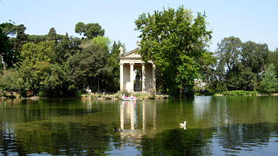 A peaceful scene in the Villa Borghese. Photos by Sav D'Souza.