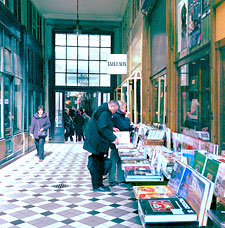 "A ""passage"" with bookstores in Paris."