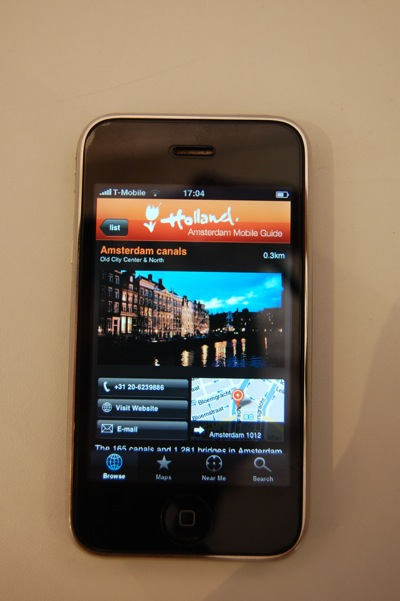 Amsterdam info on your iPhone.