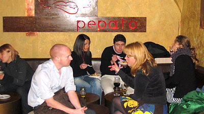 Pepato in Rome's Trastevere neighborhood