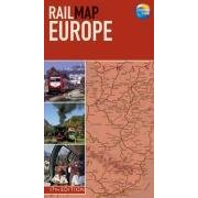 Thomas Cook's rail map of Europe