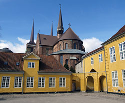 The Roskilde cathedral and palace. Photo by hidden europe.