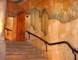 Gaudi's gallery's upstairs.