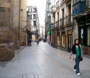 A view of Bilbao's Old Town.