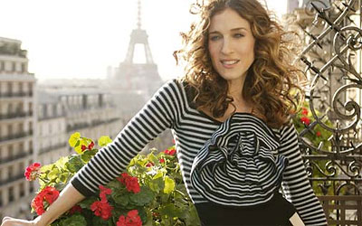 Carrie Bradshaw in Paris.