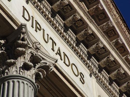 The Congreso has an impressive marble facade.