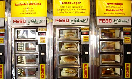 Febo is always ready to vend. Photos by Tom Meyers.