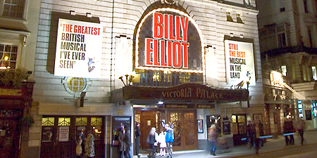 Billy Elliot makes a splash; photo by chrisjohnbeckett