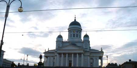 Helsinki's main cathedral, the Tuomiokirkkoat