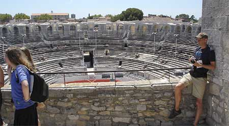 The Roman Arena in Arles is still in use.