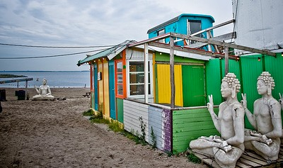 A funky, artistic vibe at Blijburg aan Zee beach in Amsterdam; photo by BasL