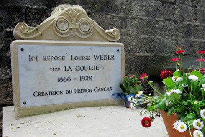 Louise Weber, aka La Goulou, is buried here.