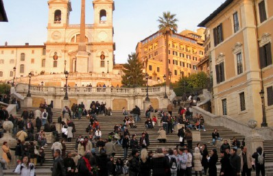 Head to the Spanish Steps for some good, free!, people watching. Photo b