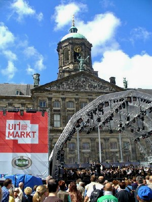 A concert at Uitmarkt; Photo by Riemer Palstra