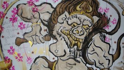 A mural inside 59Rivoli. Photo by Liz Webber.