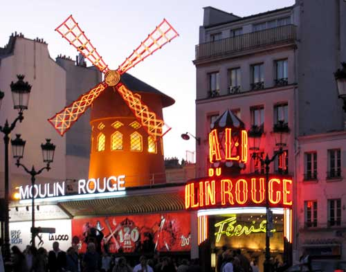 The Moulin Rouge, a setting for the mystery film. Photo by Theodora Brack.