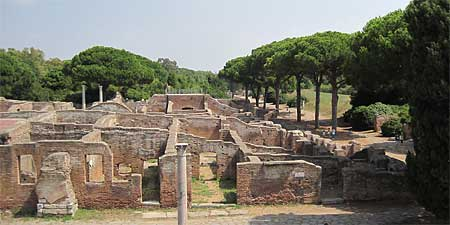 Ancient ruins in Ostia Antica. Photo by Claire Chaffey.