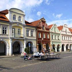 Domazlice's town square.