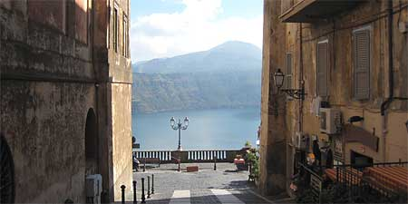 A view of Lake Albano at Castel Gandolfo. Photos by Claire Chaffey.