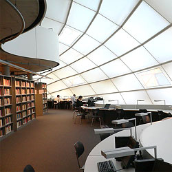 FU's Norman Foster Library. Photo by Svenwerk.