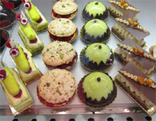 The sweets on offer at Gérard Mulot Pâtisserie.