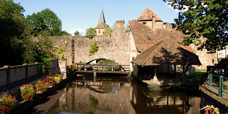 The Alsace town of Wissembourg, France. Photo ©hidden europe.