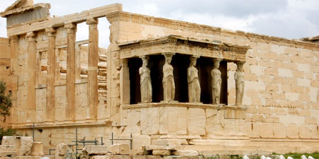 The Nike Athena Temple at the Acropolis. Photo by Audrey Sykes.