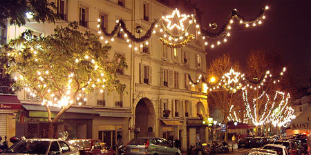 Holiday decorations in the City of Lights. Photos by Thedora Brack.