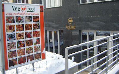 "Tasty ""Veg Food"" in Prague. Photo by Jacy Meyer."