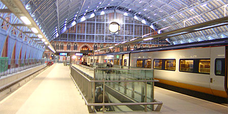 The Eurostar train at London's St Pancras Station. Photo by garybembridge.