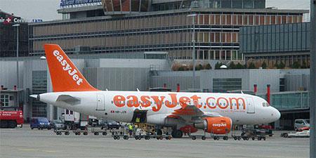 An easyJet plane. Photo by UggBoy.