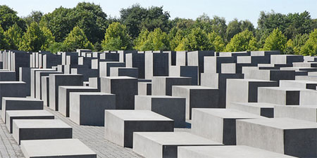 The famous Holocaust Memorial in Berlin. Photo by dalbera.