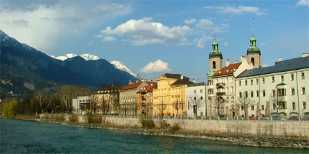 A sunny view of Innsbruck. Photo by Audrey Sykes.
