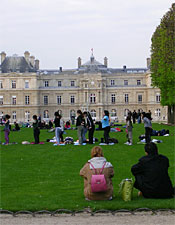 At the Jardin du Luxembourg.