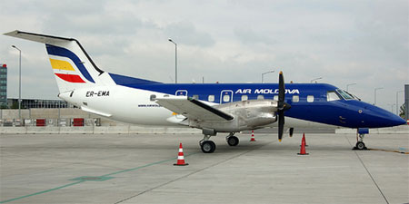 An Air Moldova plane. Photo by Ati977.